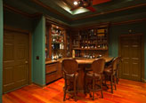 Bar adds finishing touch to home theater (movie room) in local residence